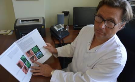 Prof. Tomasz Kręcicki, szef Kliniki Otolaryngologii, Chirurgii Głowy i Szyi w szpitalu przy ul. Borowskiej: - Rak krtani występuje częściej u mężczyzn