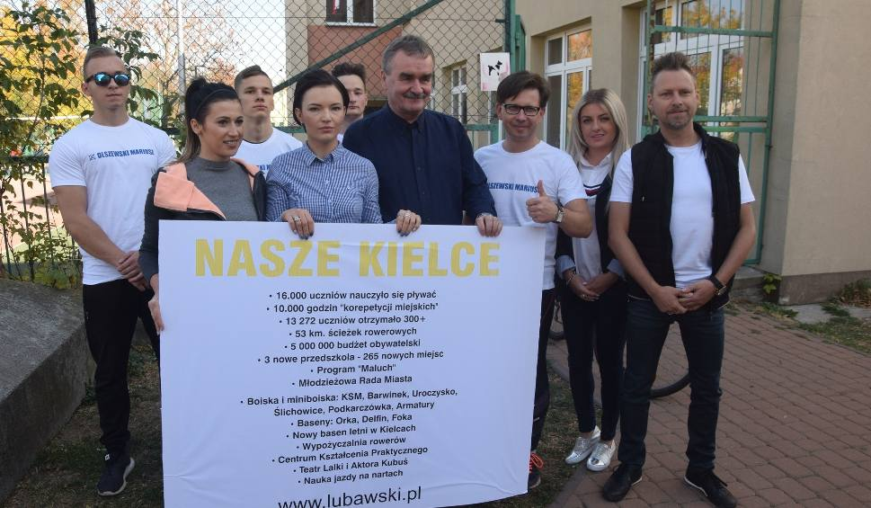 Film do artykułu: Kandydaci na radnych biegli przez Kielce i mówili o sukcesach Wojciecha Lubawskiego
