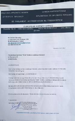 Dokument złożony przez Norberta Bernatzky'ego