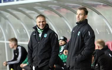 Dariusz Kantor, trener Wisłoki (z prawej) i jego asystent Wiesław Maciosek.