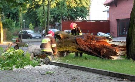 Strażacy do skutków nawałnicy wyjeżdżali 28  razy.