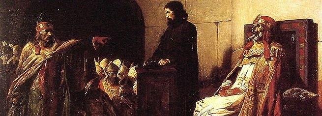 Szczątki Formozusa sądzone w karykaturalnym procesie, nietypowym nawet dla wczesnych lat papiestwa.