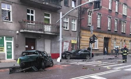 Pijany kierowca staranował stragany i trzy samochody