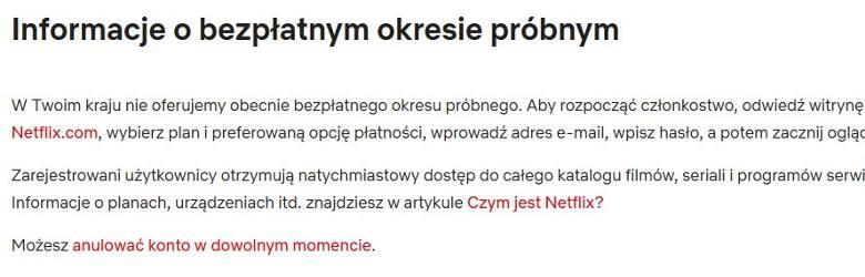 Netflix wycofuje darmowy miesiąc próbny dla Polaków. Nawet 50 tys. fejkowych kont