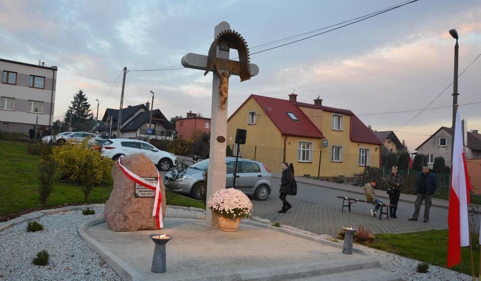 Film do artykułu: W Wieliczce powstał Skwer Niepodległości. Budowę enklawy wsparli mieszkańcy