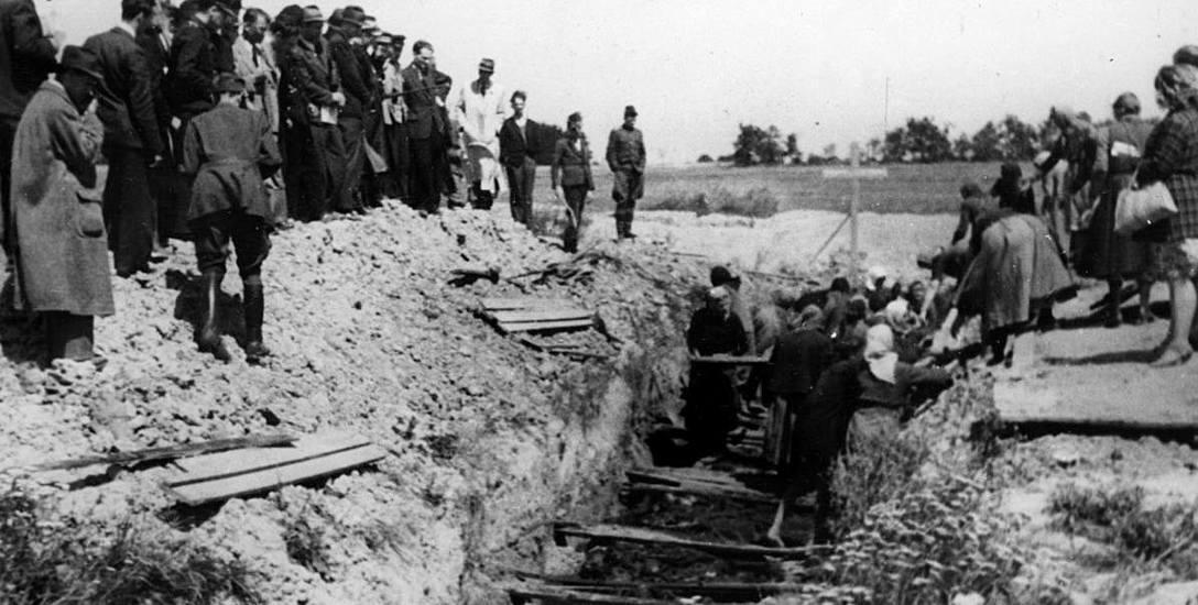 Ekshumacja ofiar zamordowanych w obozie w Łambinowicach na Opolszczyźnie