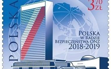 Do obiegu trafił znaczek upamiętniający udział Polski w Radzie Bezpieczeństwa ONZ