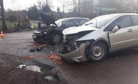 Kierowca hondy próbował hamować...