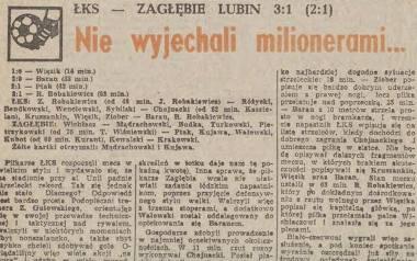 Trzech braci Robakiewiczów zagrało w pierwszym meczu ŁKS z Zagłębiem Lubin