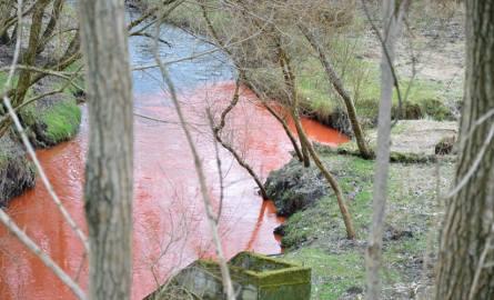 O czerwonym nurcie rzeki w rejonie ulicy Franciszkańskiej poinformowali nas Czytelnicy. Nasi reporterzy pojechali na miejsce i potwierdzili, że czerwona