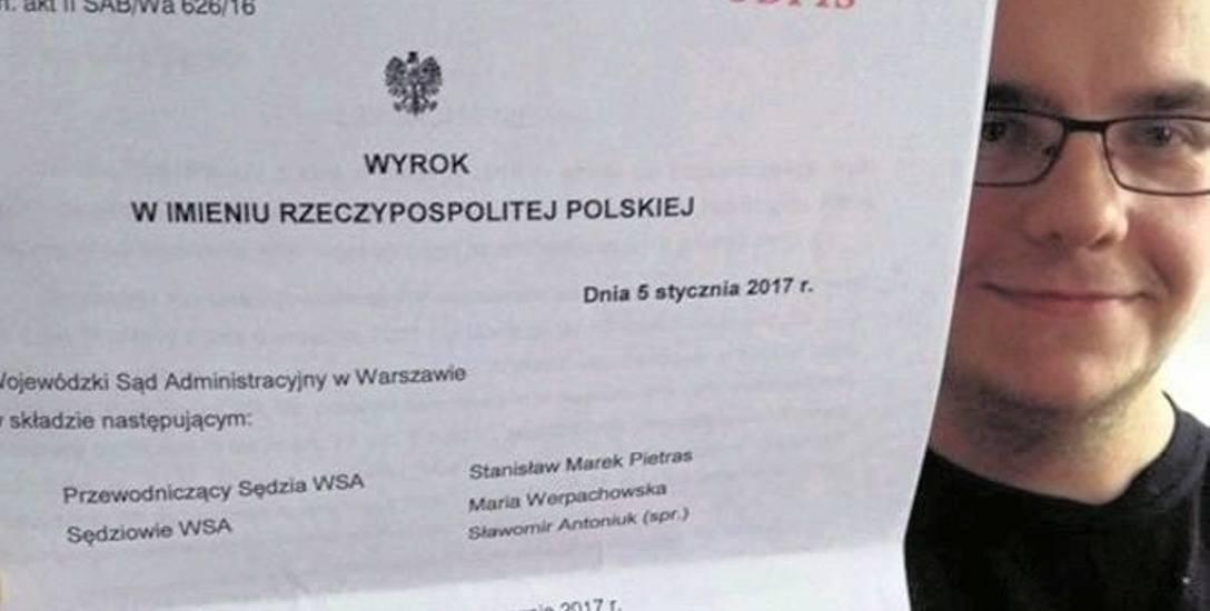 Bartosz Wilk, goleniowski prawnik, wygrał w sądzie z Kancelarią Prezydenta RP: - Liczę na to, że prezydent Duda dotrzyma słowa.