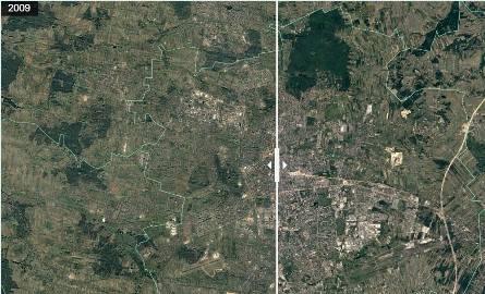 Jak rozbudowała się Łódź? Jak wyglądała z lotu ptaka Łódź w 2009 roku, a jak wygląda po rozbudowie w 2017 roku [GALERIA]