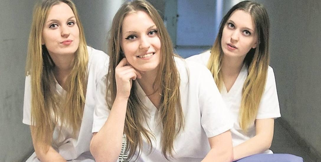 Siostry trojaczki Wiktoria, Julia i Magda odbywają praktyki na oddziale interny krakowskiego Szpitala Specjalistycznego im. S. Żeromskiego