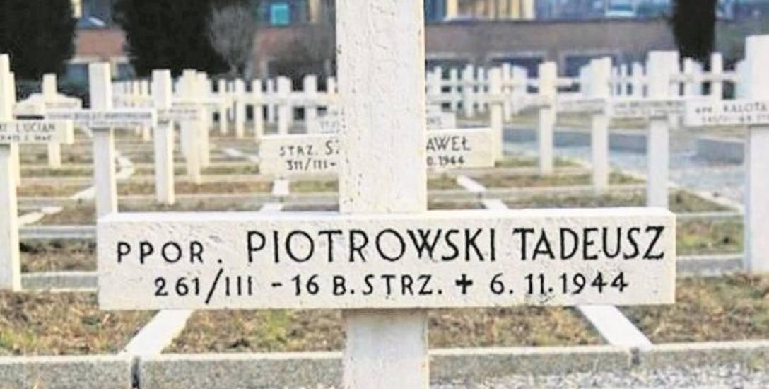 Grób Tadeusza Piotrowskiego w Bolonii