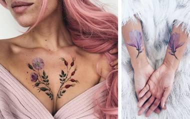 Przepiękne, kobiece tatuaże z motywem roślinnym. To prawdziwe dzieła sztuki!