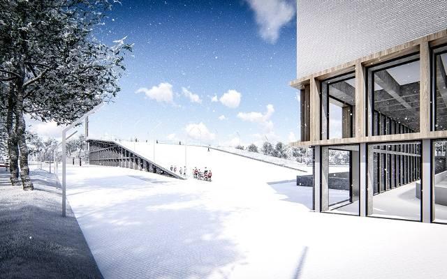 W Krakowie powstanie stok narciarski! Miasto chce budować Całoroczne Centrum Sportów Zimowych [WIZUALIZACJE]