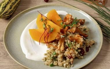 Kasza jęczmienna z dynią i kurkami. Zobaczcie przepis  na jesienny obiad!