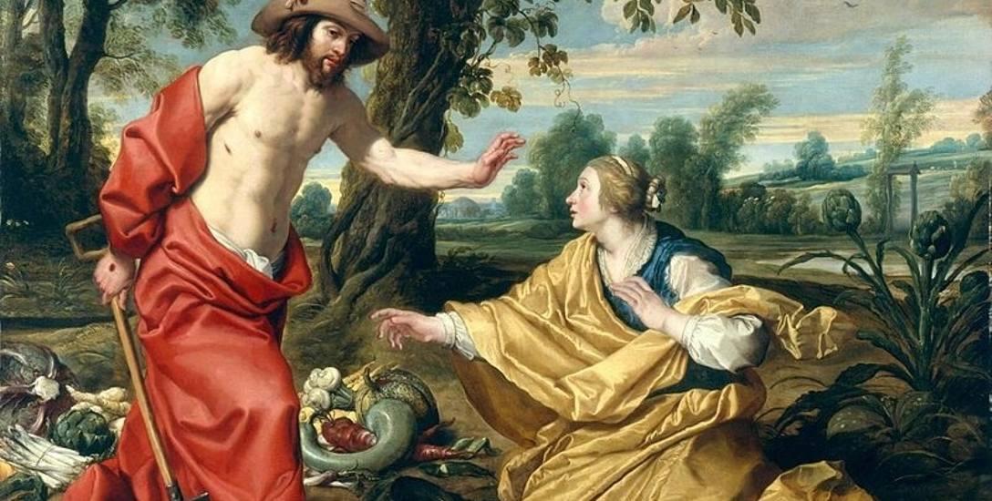 Maria Magdalena spotkała Jezusa, sądziła że to ogrodnik (Obraz Abrahama Janssensa).