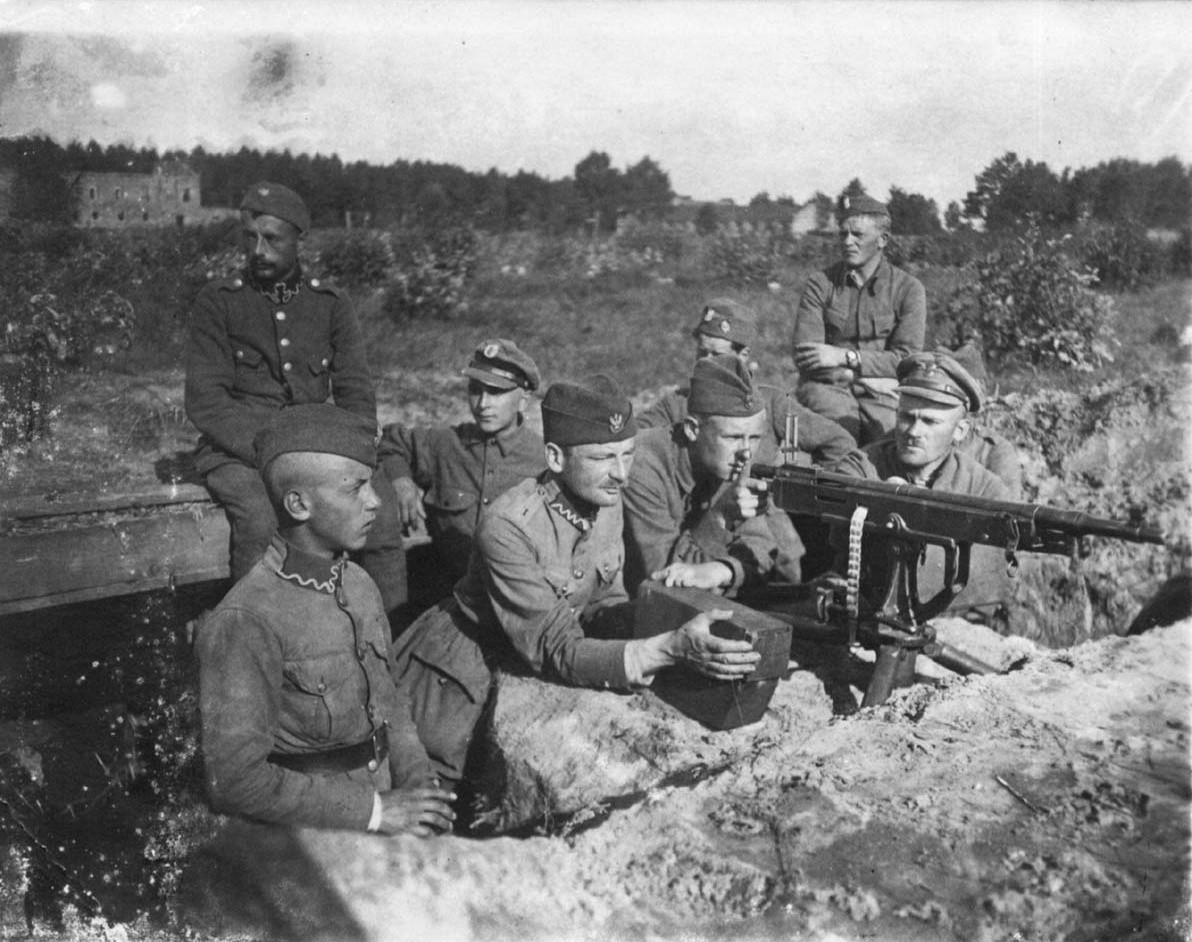Polskie pozycje pod Miłosną, sierpień 1920.