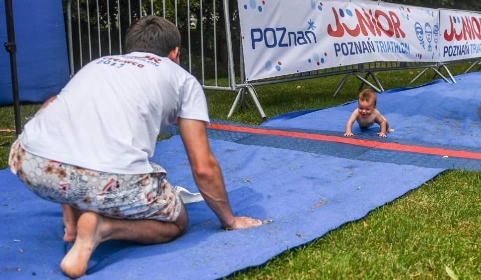 Film do artykułu: Junior Triathlon Poznań: Maluchy kończyły na nóżkach lub na czworakach [ZDJĘCIA]