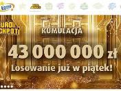 Eurojackpot wyniki losowania [16.03.2018]. Dzisiaj do wygrania 43 mln złotych. Tutaj sprawdzisz wyniki losowania [KUMULACJA 43 milionów]
