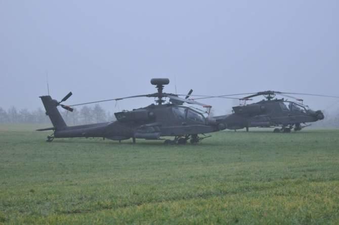 Amerykańskie śmigłowce na polskim polu