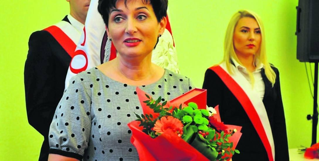 Starosta gorzowski Małgorzata Domagała na uroczystym zakończeniu kadencji rady powiatu