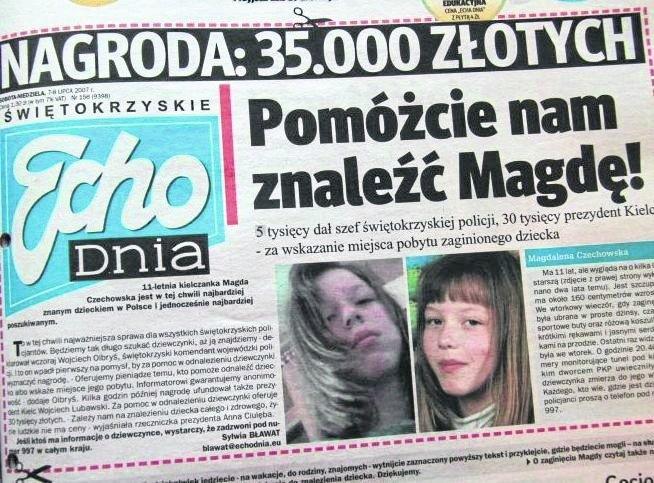 """""""Echo Dnia"""" apelowało o pomoc w odnalezieniu zaginionej."""