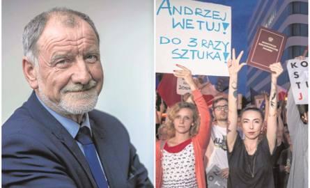 Fot. 1 Prof. Jan Tadeusz Duda, emerytowany pracownik AGH, radny wojewódzki, ojciec prezydenta RPFot. 2 Wczoraj wieczorem przed gmachem krakowskich sądów