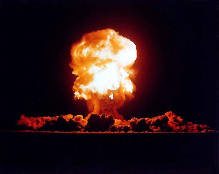 Na zdjęciu eksplozja nuklearna w Newadzie, w USA. Na szczęście Bieszczady pozostawiono w końcu w spokoju