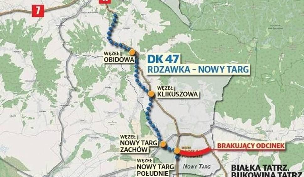 Film do artykułu: Nowy Targ. Ministerstwo nie zbuduje turystom nowej drogi w stronę wyciągów narciarskich