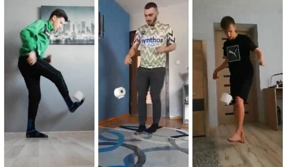 Film do artykułu: Ruszyła Wirtualna Liga Świętokrzyskiego Związku Piłki Nożnej. Zawodnicy żonglują...rolką papieru toaletowego [WIDEO]