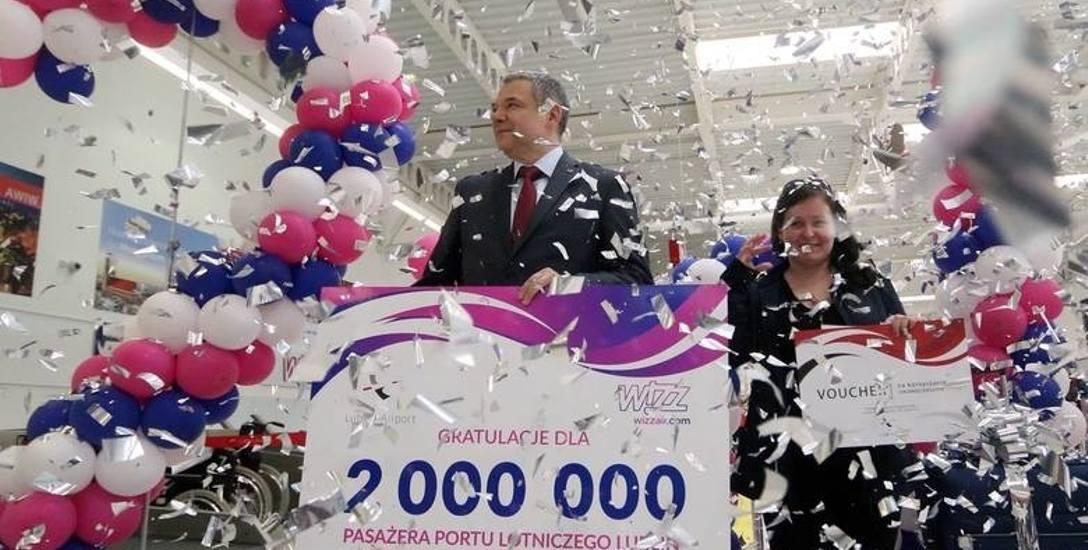 Weronika Sawa przyleciała z Eindhoven i została 2-milionowym pasażerem lubelskiego lotniska