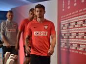 W niedzielnej konferencji uczestniczyli Karoil Linetty, Thiago Cionek i trener Bogdan Zając