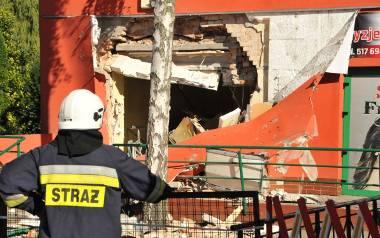 Kaszczor: Kradzież bankomatu. Wysadzili w powietrze ścianę banku