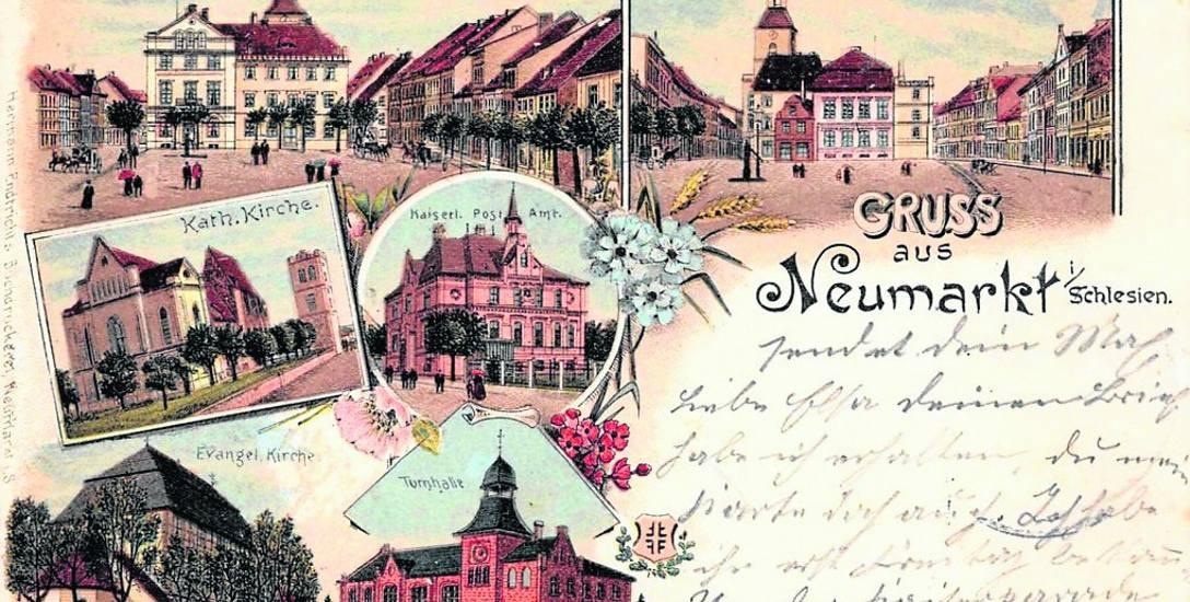 Pocztówka ze Środy Śląskiej z roku 1906
