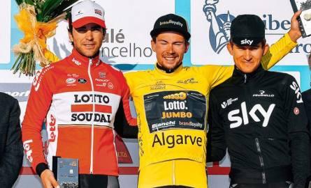 Na podium w Portugalii stanęli Primoz  Roglic, Michał Kwiatkowski i Hiszpan Jonathan Castrviejo.