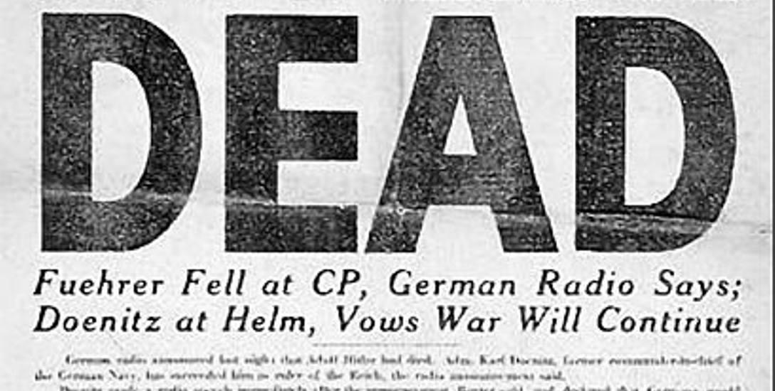 """Okładka amerykańskiej gazety """"Stars and Stripes"""" z maja 1945"""