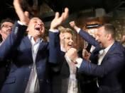 Po ogłoszeniu wyników w sztabie Hanny Zdanowskiej zapanowała euforia.