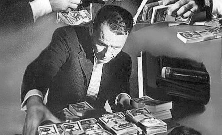 """Grafika promująca film """"Ocean's Eleven"""" z 1960r. - w Polsce znany jako """"Ryzykowna gra""""."""