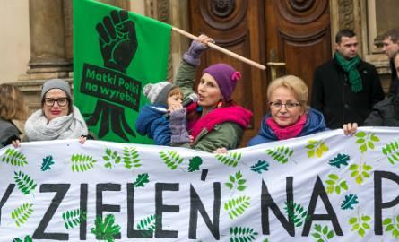 Kraków. Protest mieszkańców, chcą więcej pieniędzy na zieleń