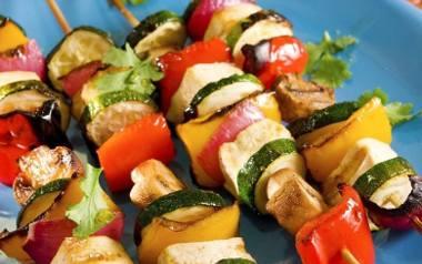 Grillowane szaszłyki warzywne.