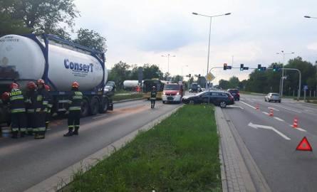 Wypadek na ulicy Toruńskiej we Włocławku.