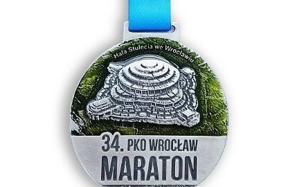 Tak ma wyglądać medal 34. PKO Wrocław Maratonu
