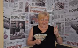 Przedstawiamy kolejną laureatkę loterii Nowin. 64-letnia Danuta Zimowska z Rzeszowa wygrała w czwartym losowaniu 1000 zł