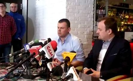 Wtorkowa konferencja prasowa prezesa piłkarskiego Zagłębia Sosnowiec, Marcina Jaroszewskiego