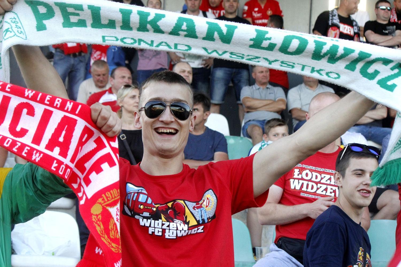 Kibice na meczu Pelikan Łowicz - RTS Widzew Łódź [ZDJĘCIA]