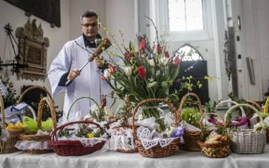 15.04.2017. Gdańsk, bazylika mariacka - święcenie pokarmów