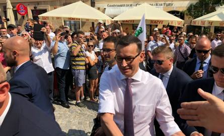 Krajowa Konwencja Prawa i Sprawiedliwości w niedzielę na Rynku w Sandomierzu. Przyjechał premier Mateusz Morawiecki