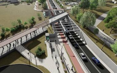 Budowa węzła Grunwaldzka będzie prowadzona obok istniejącego przejazdu kolejowego. - Ruch samochodowy w trakcie prowadzenia inwestycji zostanie utrzymany